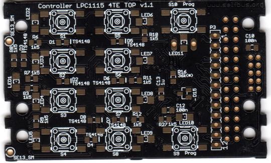 PCB Selfbus 4TE TOP Controller (ARM)